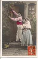 """L60A414 - Couple - Doux Lien D'Amour -  """"Après La Moisson Faite, Mettons..."""" -  Croissant Paris  N°3406/3 - Couples"""