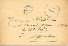 26-cachet Hôpital Militaire Bénévole N°144 Bis Rivales à Dieulefit Sur Lettre De 1916 - Cachet Rare - Guerra De 1914-18