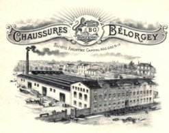 BELORGEY  Fabrique De Chaussures DIJON  1913  TOP Illustration - Wechsel