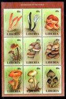 Liberia Serie Nº Yvert 1724/32 ** SETAS (MUSHROOMS) - Liberia