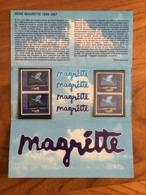 Pochette Philatélique D'émission Commune FRANCE-BELGIQUE MAGRITTE - 1998 - Neuf - Souvenir Blocks & Sheetlets