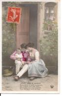 """L60A415 - Couple - Doux Lien D'Amour -  """"Puis Comme Au Seuil D'un Temple..."""" -  Croissant Paris  N°3406/4 - Couples"""