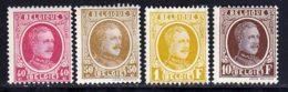 Belgique 1921 Yvert 202 - 203 - 205 - 210 (*) B Neuf Sans Gomme - 1922-1927 Houyoux