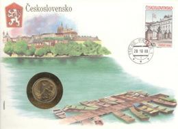 CSSR 2834 Numisbrief - Tschechoslowakei
