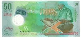 Maldives 50 Rufiyaa 2015 UNC .PL. - Maldiven