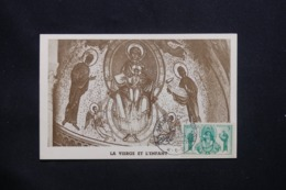 MONACO - Carte Maximum 1951 - La Vierge Et L 'Enfant - L 42278 - Cartes-Maximum (CM)