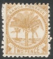 Samoa. 1886-1900 Palm Trees. 2d MH P11 SG 59c - Samoa