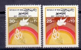 1977 IRAQ Complete Set 2 Values MNH S.G.No.1296-1297 - Iraq