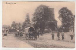 CPA- DOMPIERRE - Eglise- Soldats Allemand- Cariole Chevaux-1915-guerre De 14-18- Dép54-2scans - Autres Communes