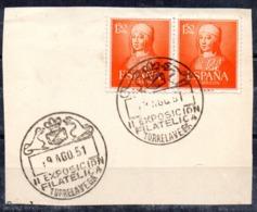 Sellos Nº 1095 Con Matasellos Exposicion Filatelica Torrelavega - 1951-60 Usados