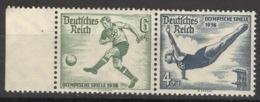 Deutsches Reich Zusammendruck W105 Seitenrand ** Postfrisch - Zusammendrucke