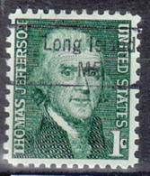 USA Precancel Vorausentwertung Preo, Locals Maine, Long Island 843 - Vereinigte Staaten