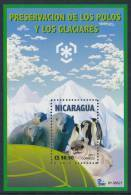 NICARAGUA 2011, IPY International Polar Year - Preserve The Polar Regions And Glaciers Minisheet** - Preserve The Polar Regions And Glaciers