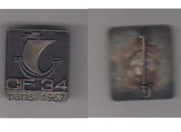 ÉPINGLETTE - CIF 34 - PARIS 1967 - ARTHUS BERTRAND - Professionnels / De Société