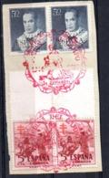 Sellos  Nº 1102 En Pareja  Con Matasellos En Rojo  Medina Del Campo - 1951-60 Usados