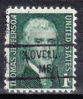 USA Precancel Vorausentwertung Preo, Locals Maine, Lovell 841 - Vereinigte Staaten