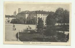RACCONIGI - PIAZZA CARLO ALBERTO E MUNICIPIO 1947 VIAGGIATA   FP - Cuneo