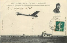 GRANDE SEMAINE D'AVIATION - Labouchère Passe Devant Les Commissaires Sportifs Sur Monoplan Antoinette. - Meetings