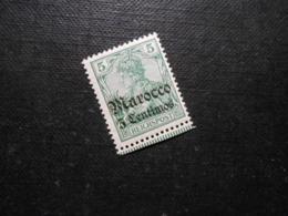 D.R.Mi 20  5C Auf 5Pf**MNH - Deutsche Auslandspostämter ( MAROKKO ) 1905  Mi 24,00 € - Prüfzeichen Jäschke - Offices: Morocco