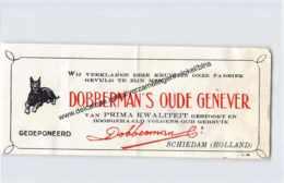 DOBBERMAN'S Oude Schiedam  - Oude Schiedammer Genever Dobberman & Cie - Etiketten