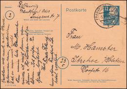 P 36a/03 Engels Mit DV M 301 / C 4296 Von FRANKFURT/ODER 5.5.50 Nach Itzehoe - [6] Repubblica Democratica