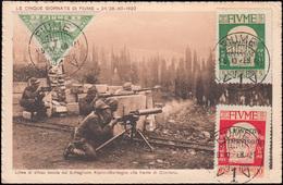 Fiume 96 Zeitungsmarke Mit 114+115 Governo Provvisorio, AK An Der Front 10.2.21 - Jugoslawien