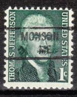 USA Precancel Vorausentwertung Preo, Locals Maine, Monson 841 - Vereinigte Staaten