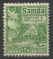 Samoa. 1921 Native Hut. ½d MH P14X14½ SG 149 - Samoa