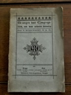 Oud Boek Gezangen Voor  Congregatien Ook Voor Scholen Dienstig  Door P . BUSSCHAERT . R . K . Pr .   BRUGGE 1881 - Oud
