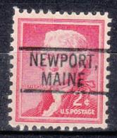 USA Precancel Vorausentwertung Preo, Locals Maine, Newport 802 - Vereinigte Staaten