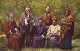 Tibet Thibet, Group Of Tibetan Lamas (1910s) Tuck Oilette Postcard - Tibet