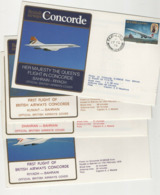CONCORDE Lot De 50 Plis Transportés à Bord - Concorde