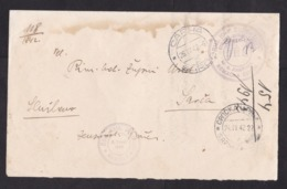 Serbia: Postage Free Cover?, 1942, Sent By Catholic Church Nemacka Crnja, German Settlement? (water Stain) - Servië