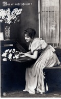Was Er Wohl Schreibt - Liebe Liebesbrief Amour Ca 1920 - Fotografie