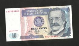PERU' - BANCO CENTRAL De RESERVA Del PERU' - 10 INTIS (1987) - Peru