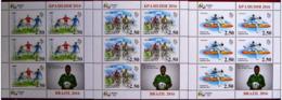 Tajikistan 2016 Set 3 Sheetlets  MNH Olympic Games In Rio Olympics Bicycle Racing Fight Football Pele - Summer 2016: Rio De Janeiro