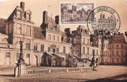 1951 .carte Maximum .france .102284 .palais De Fontainebleau .cachet Fontainebleau . - 1950-59