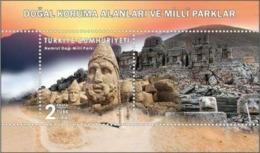 TURKEY/2019 - NATURAL CON. AREAS AND NATIONAL PARKS-2 (Adiyaman, Antiques), MNH - 1921-... Repubblica