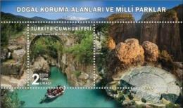 TURKEY/2019 - NATURAL CON. AREAS AND NATIONAL PARKS-1 (Antalya, Rafting), MNH - Nuevos