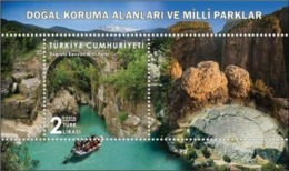 TURKEY/2019 - NATURAL CON. AREAS AND NATIONAL PARKS-1 (Antalya, Rafting), MNH - 1921-... Repubblica