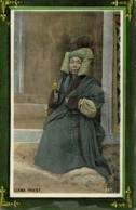 Tibet Thibet, Llama Lama Priest With Prayer Wheel (1910s) Postcard - Tibet