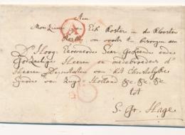 België / Nederland - 1782 - EO Briefomslag Met A In Cirkel En Zeer Uitgebreid Adres Naar Den Haag - Pays-Bas