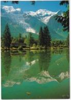 Le Lac Des Gaillands Devant Le Glacier Des Bossons, Le Mont Blanc, Gouter - TRAIN / TREN / ZUG -  (Haute-Savoie) - Chamonix-Mont-Blanc
