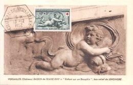 1952 .carte Maximum .france .102288 .bassin De Diane XVIIe Siecle .cachet Versailles . - 1950-59