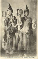 Tibet Thibet, Native Tibetan Mendicants With Drum And Bell (1920s) Postcard - Tibet