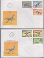 PREHISTORICS ANIMALS FAUNA FDC COVER 1994 SET ROMANIA, SPECIAL POSTMARK FIRST DAY - Sellos