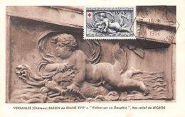 1952 .carte Maximum .france .102289 .bassin De Diane XVIIe Siecle  .cachet Versailles . - 1950-59