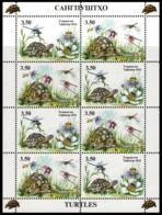 Tajikistan 2016  MS MNH Turtles Tortue  Insects Dragonflies - Schildpadden