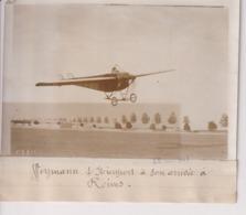 WEYMAN S NIEUPORT A SON ARRIVÉE A REIMS  18*13CM Maurice-Louis BRANGER PARÍS (1874-1950) - Aviación