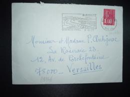 LETTRE TP MARIANNE DE BEQUET 1,00 ROULETTE DE DISTRIBUTEUR OBL.MEC.8-6 1977 64 BIARRITZ - 1971-76 Marianne (Béquet)
